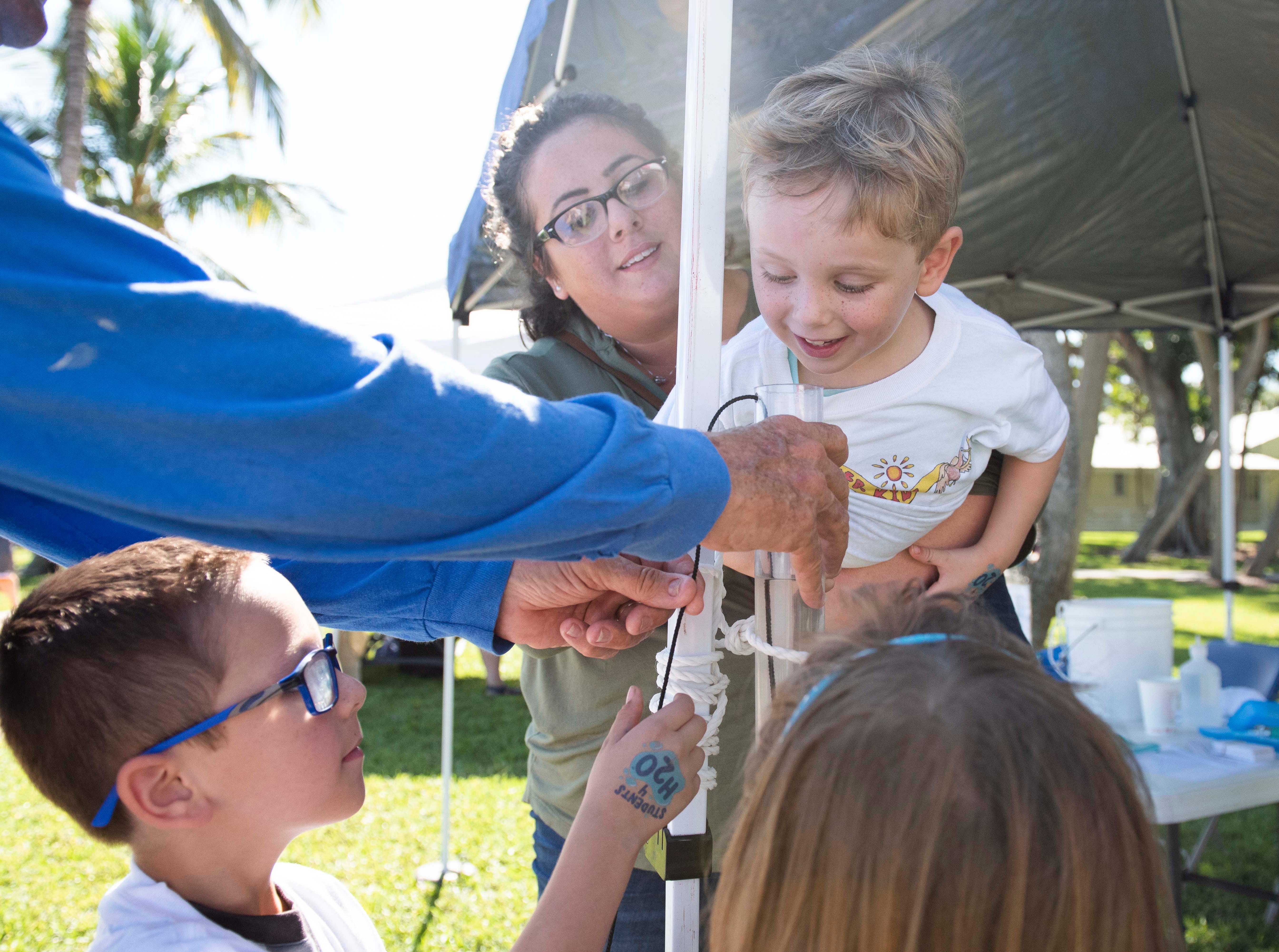 Florida Oceanographic Society's Rally for the River was held on Saturday, October 13, 2018, in Flagler Park in downtown Stuart. Visitors got the chance to tour downtown Stuart's living oyster reef, participate in water quality and oyster bagging demonstrations, and meet local water experts to learn about water-related problems, including toxic algae and red tide.