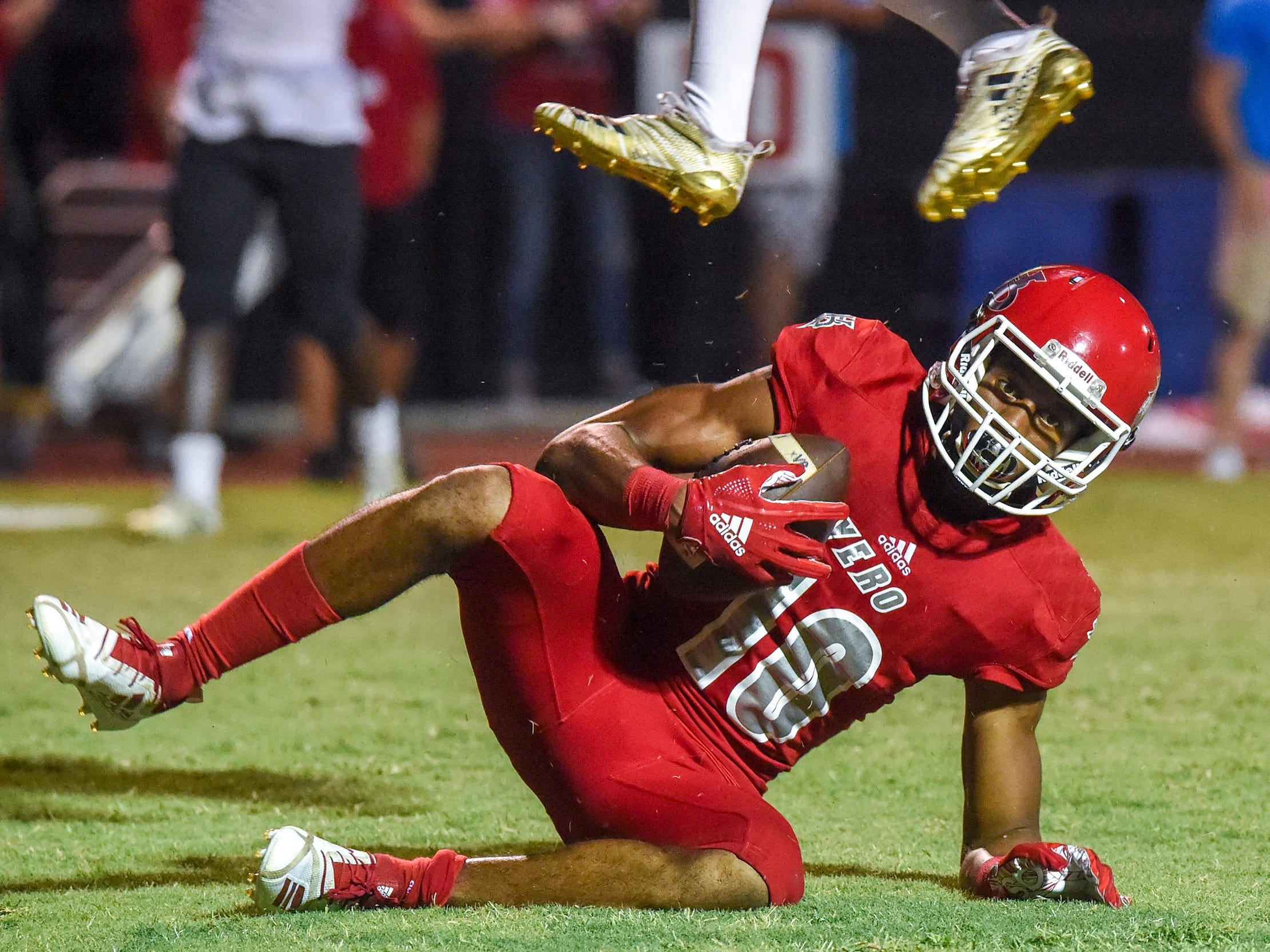 Vero Beach battled Treasure Coast Friday, Oct. 12, 2018, during their high school football game at Vero Beach High School.