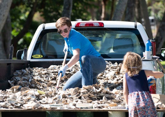 Florida Oceanographic Society's Rally for the River was held on Saturday, October 13, 2018, in Flagler Park in downtown Stuart. Visitors got the chance to tour downtown Stuart's living oyster reef, participate in water quality and oyster bagging demonstrations, and meet local water experts to learn about water-related problems.
