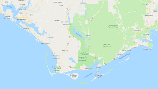 Panhandle area hit hardest by Hurricane Michael Oct. 10, 2018.