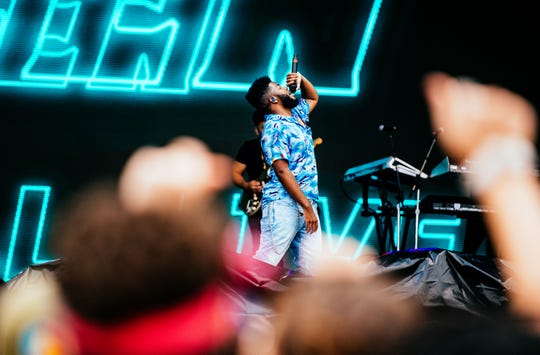 El Paso R&B singer Khalid performs at the Austin City Limits Music Festival during its second weekend Oct. 12, 2018, in Austin.