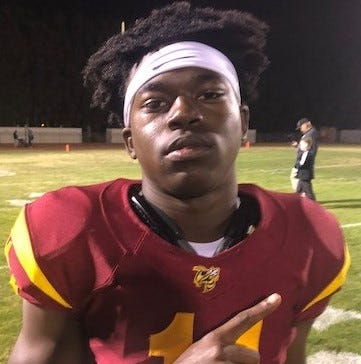 Xavier Harris rushed for 177 yards and four TDs in a 43-14 win over Rio Mesa.