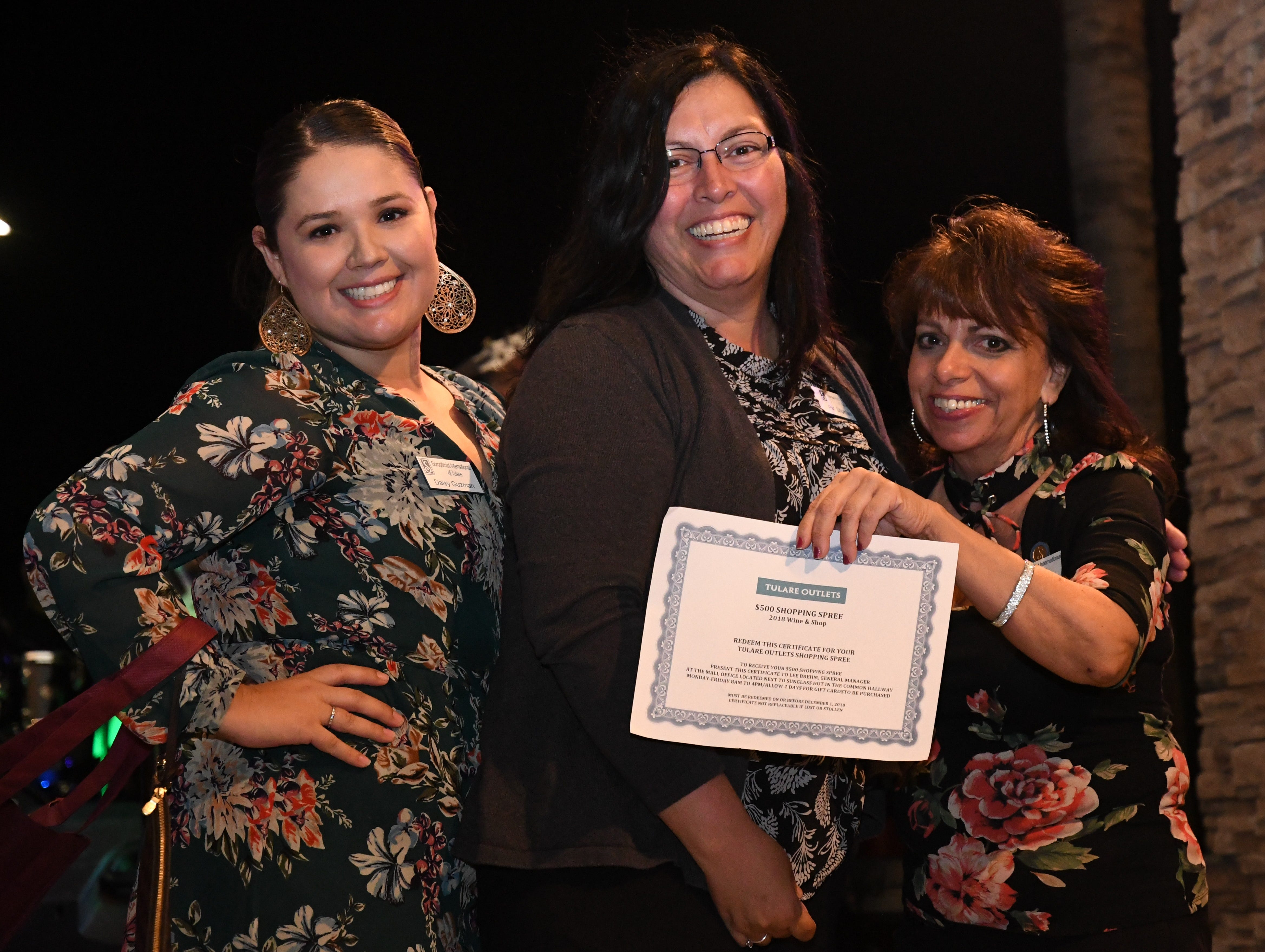 "More than 400 patrons turned out for Soroptimist International of Tulare's third-annual ""Wine and Shop"" Thursday night at Tulare Outlets. This year's event benefited scholarships for Tulare high school students and mental health awareness efforts around the county."