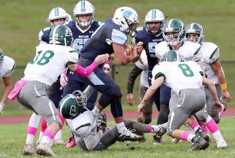 Westlake defeated Pleasantville 22-14 in football action at Westlake High School in Thornwood Oct. 12, 2018.