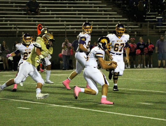 Abilene Wylie stayed winless while Rider stopped a four-game losing skid, 34-7.
