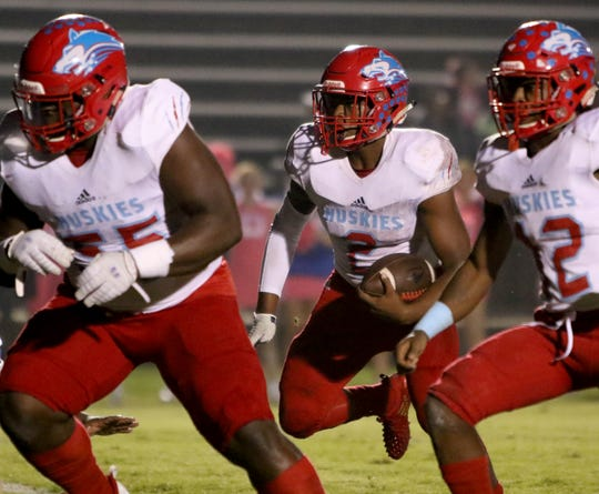 Hirschi's Fred Fleeks showed his legs can be a valuable weapon on offense.
