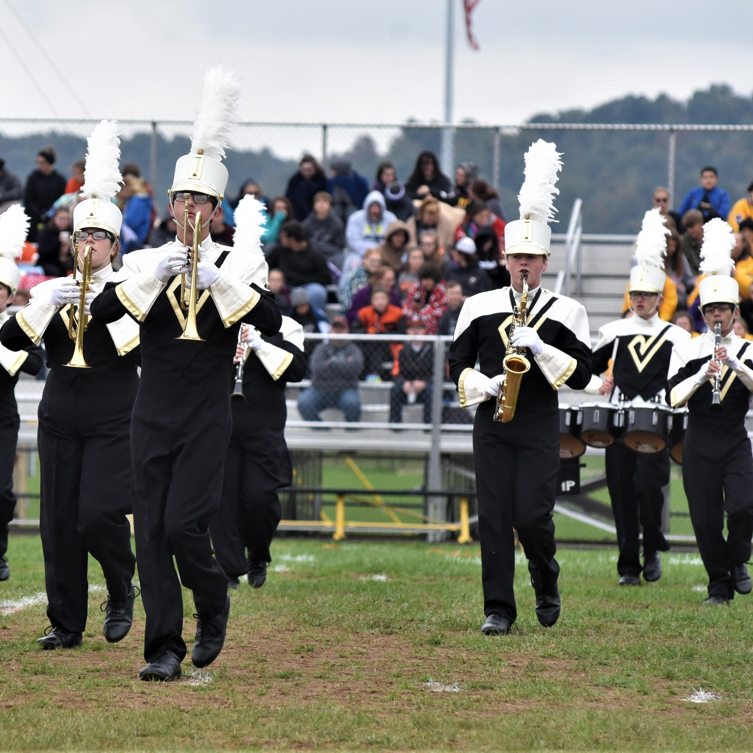 The River View Marching Band performs during Saturday's River View Black Bears Marching Invitational. The Black Bears earned a Superior Rating and a state berth.