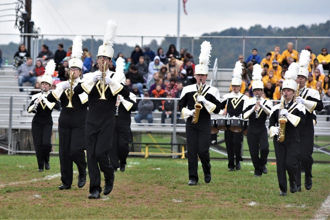 The River View Marching Band performs during Saturday's River View Black Bears Marching Band Invitational. The Black Bears earned a Superior Rating and a state berth.