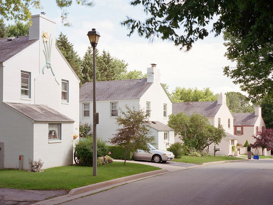 New Deal-era houses in Greendale, Wisconsin.