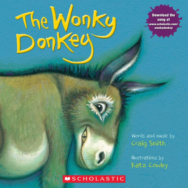 "This cover image released by Scholastic shows ""The Wonky Donkey"" by Craig Smith and illustrated by Katz Cowly."