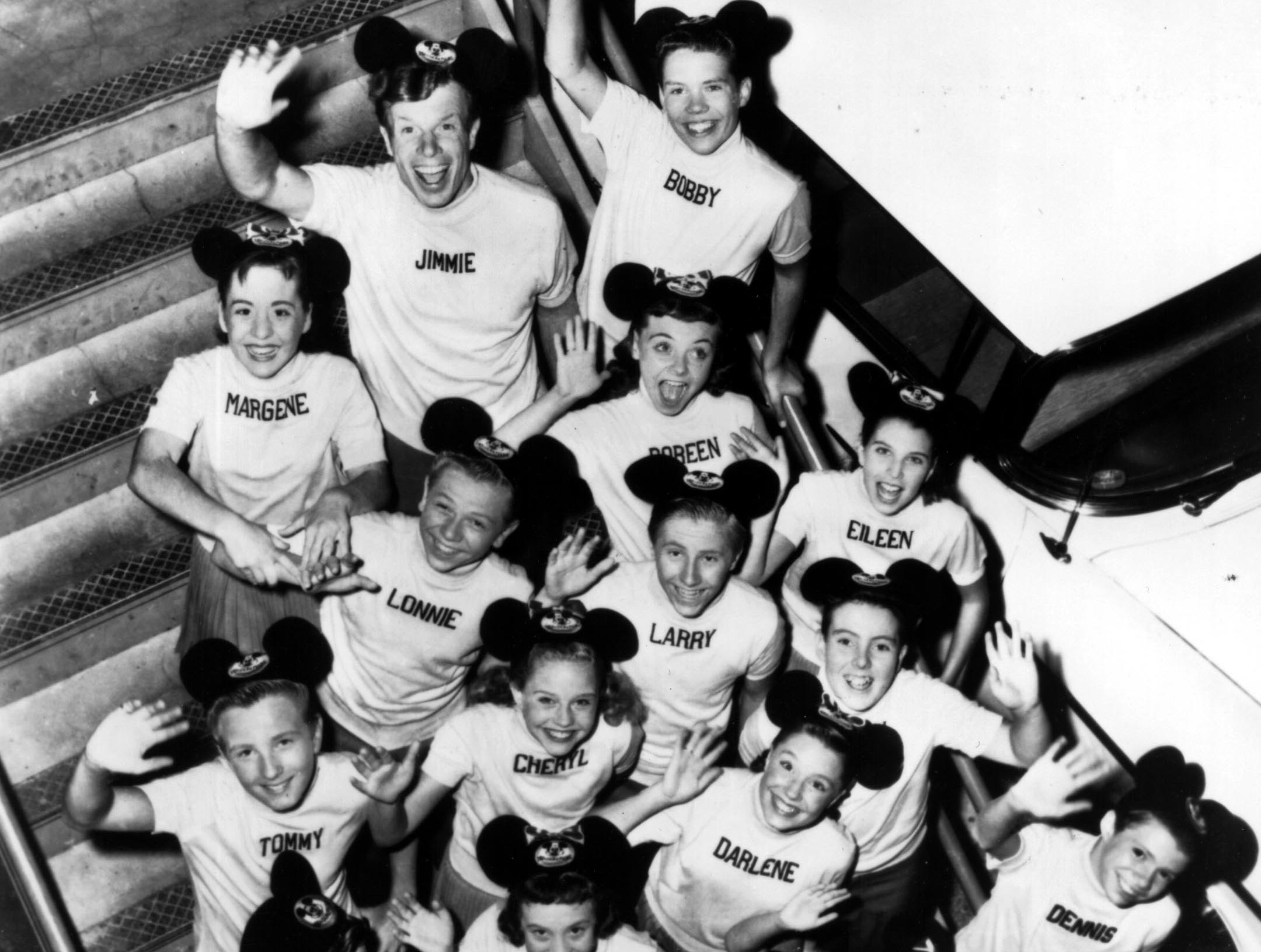 """The original """"Mickey Mouse Club"""" members."""