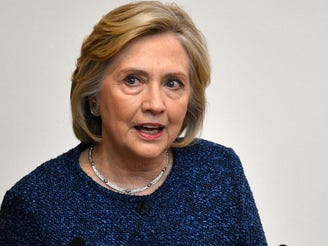 Former first lady and Secretary of State Hillary Rodham Clinton delivers a keynote speech at Mansfield College in Oxford University Oxford, Britain.