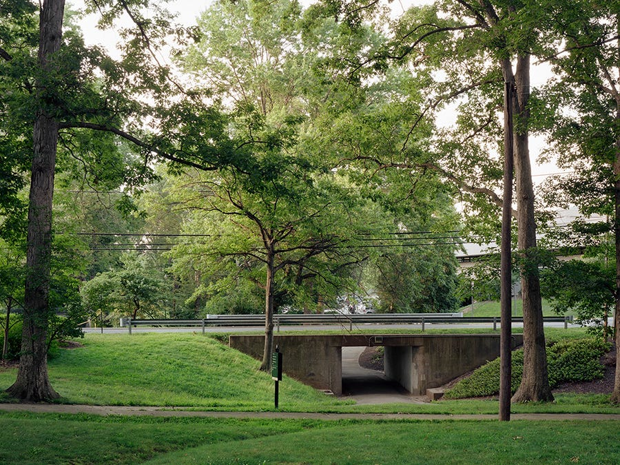 A pedestrian underpass through the city's common green space in Greenbelt, Maryland.