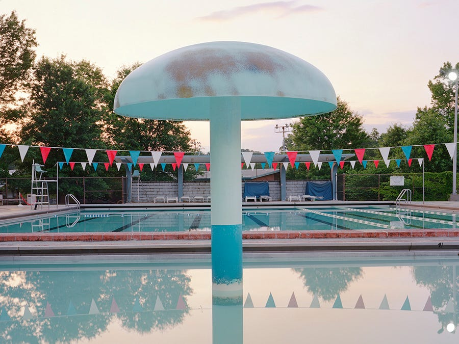 A community pool in Greenbelt, Maryland.