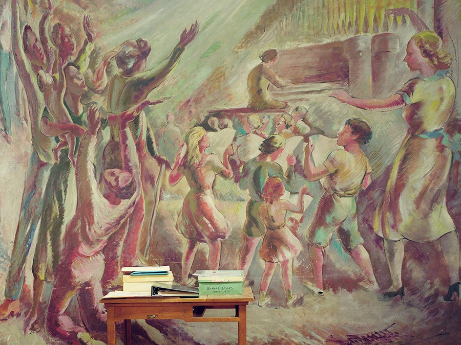 A mural in a music room in Greenhills, Ohio.
