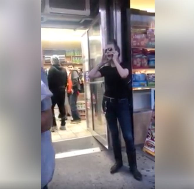 A video shot by Jason Littlejohn on Wednesday in Brooklyn shows a woman claiming to call 911. The woman speaks on the phone, saying that a young boy, who is black, groped her in a deli. She later apologized after security footage revealed that the child accidentally brushed her in the store.