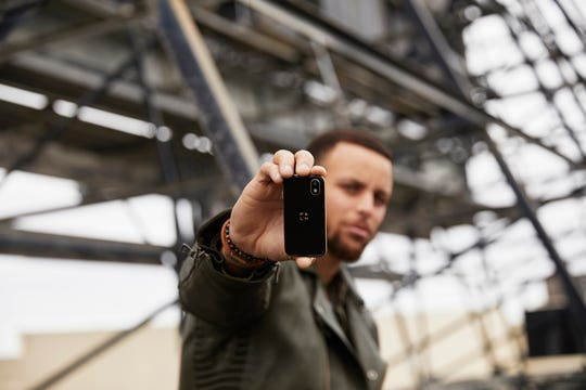 NBA star Steph Curry is on the new Palm team.
