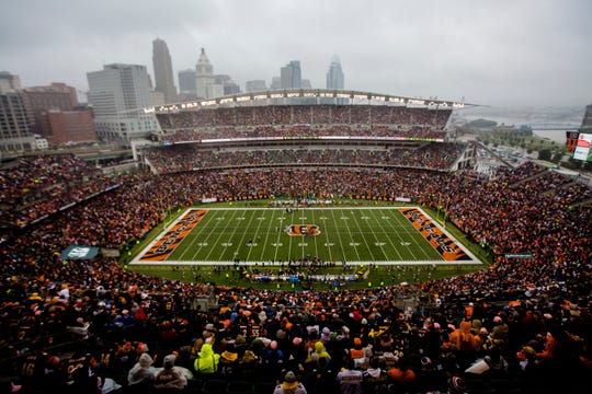 The Week 6 NFL game between the Cincinnati Bengals and the Pittsburgh Steelers, Sunday, Oct. 14, 2018, at Paul Brown Stadium in Cincinnati.