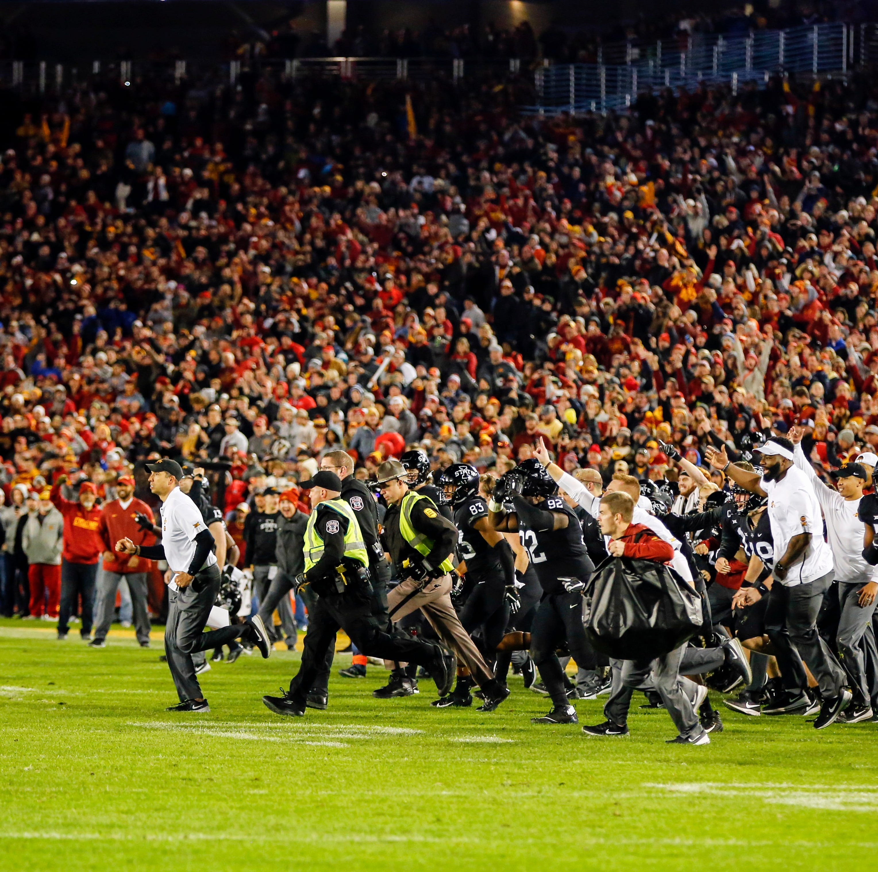 Big 12 punishes Iowa State following field-storming after West Virginia upset