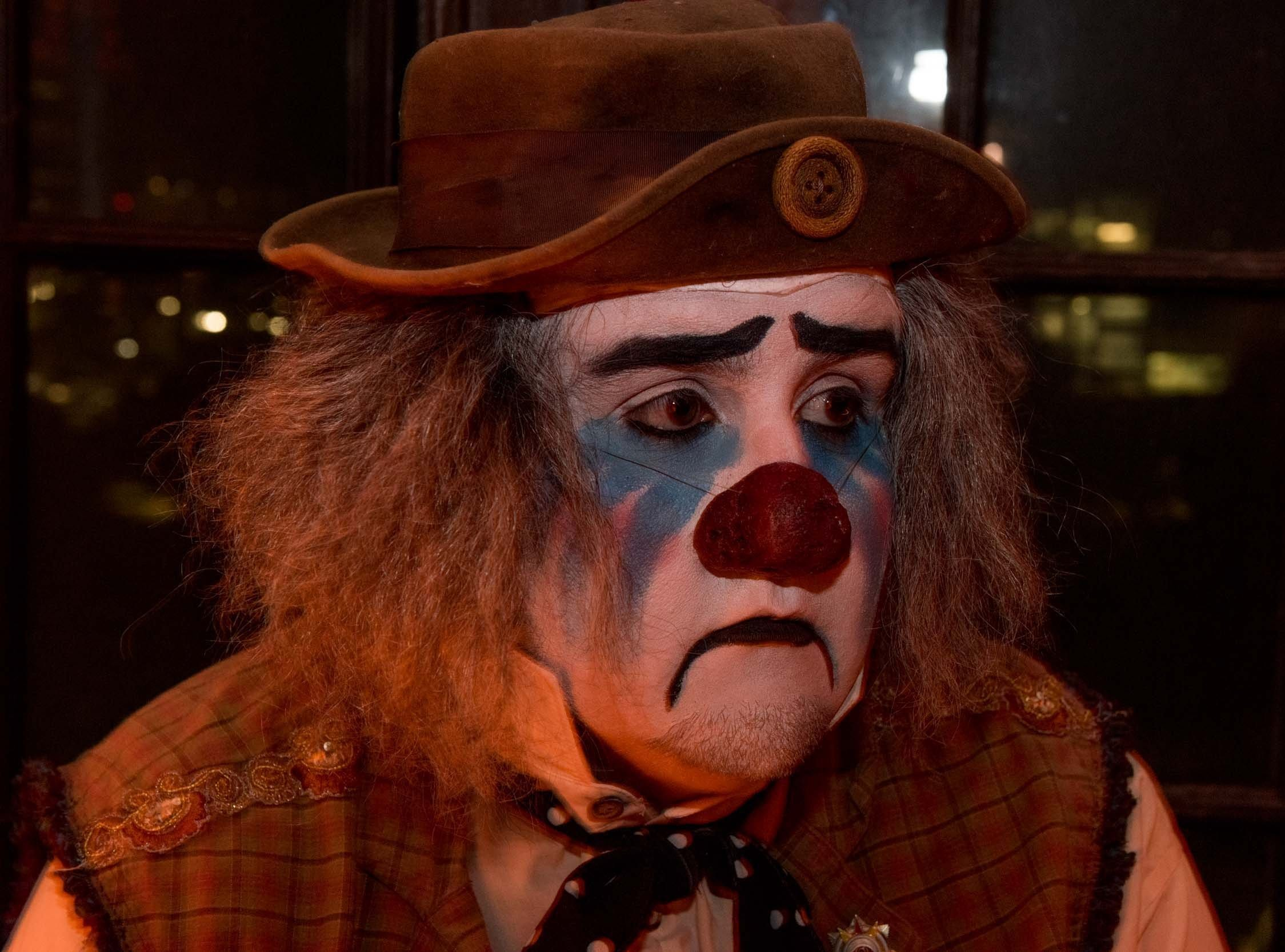 Cecil the Sad Clown during Theatre Bizarre at the Masonic Temple on October 13, 2018.