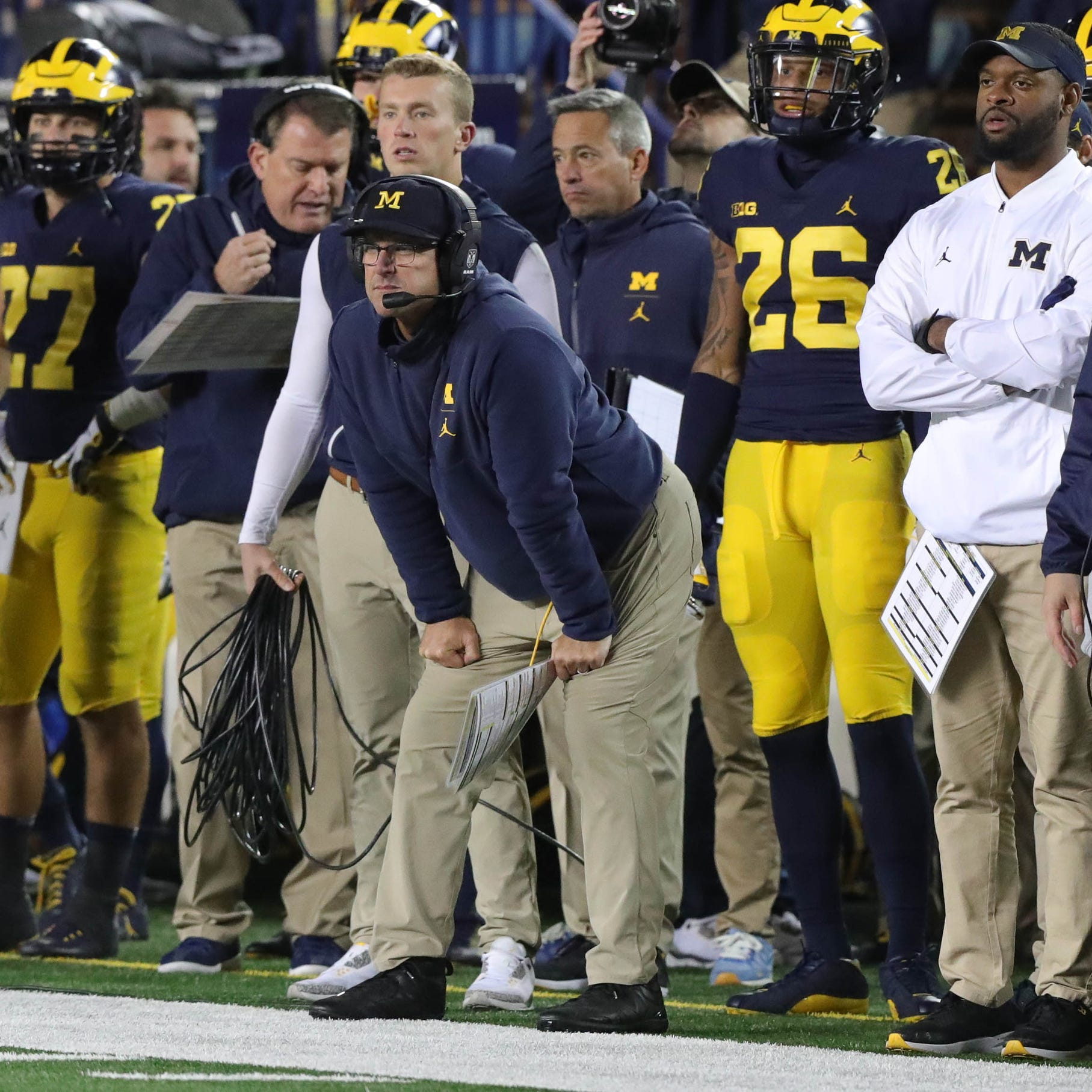 Michigan's Ed Warinner, Mark Dantonio's old roommate, in unique spot