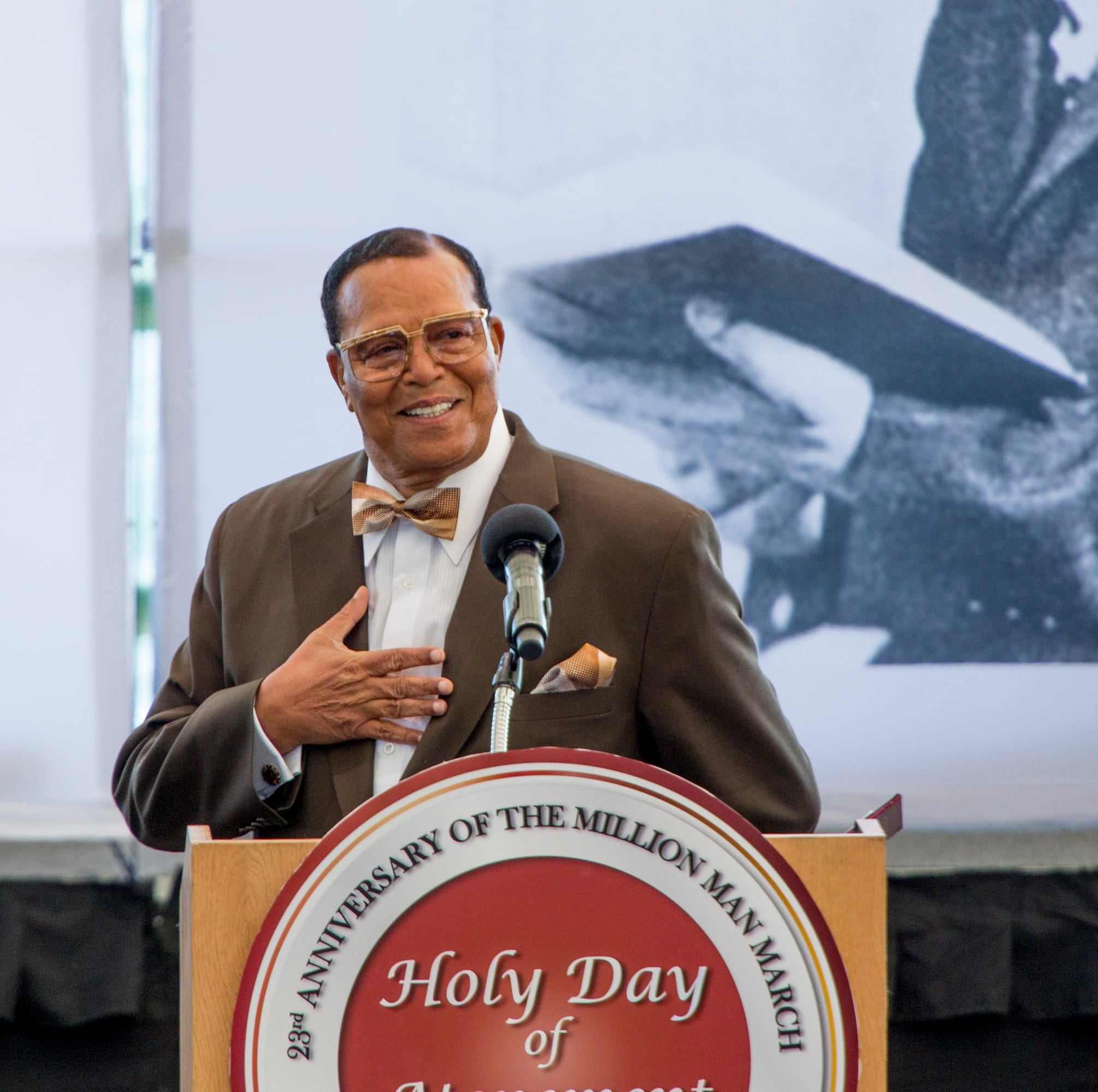 Farrakhan links reparations for blacks to climate change