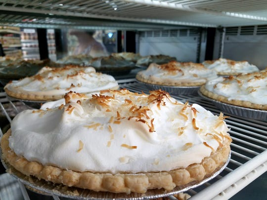 All the side dishes and desserts, such as these coconut pies, are homemade right at Marx Barbecue.