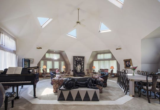 """This geodesic home, built in 1981, may be more family compound than simply """"house""""; with nearly 12,000 square feet of living space, it is an ideal place for a large extended family's weekend and holiday gatherings."""