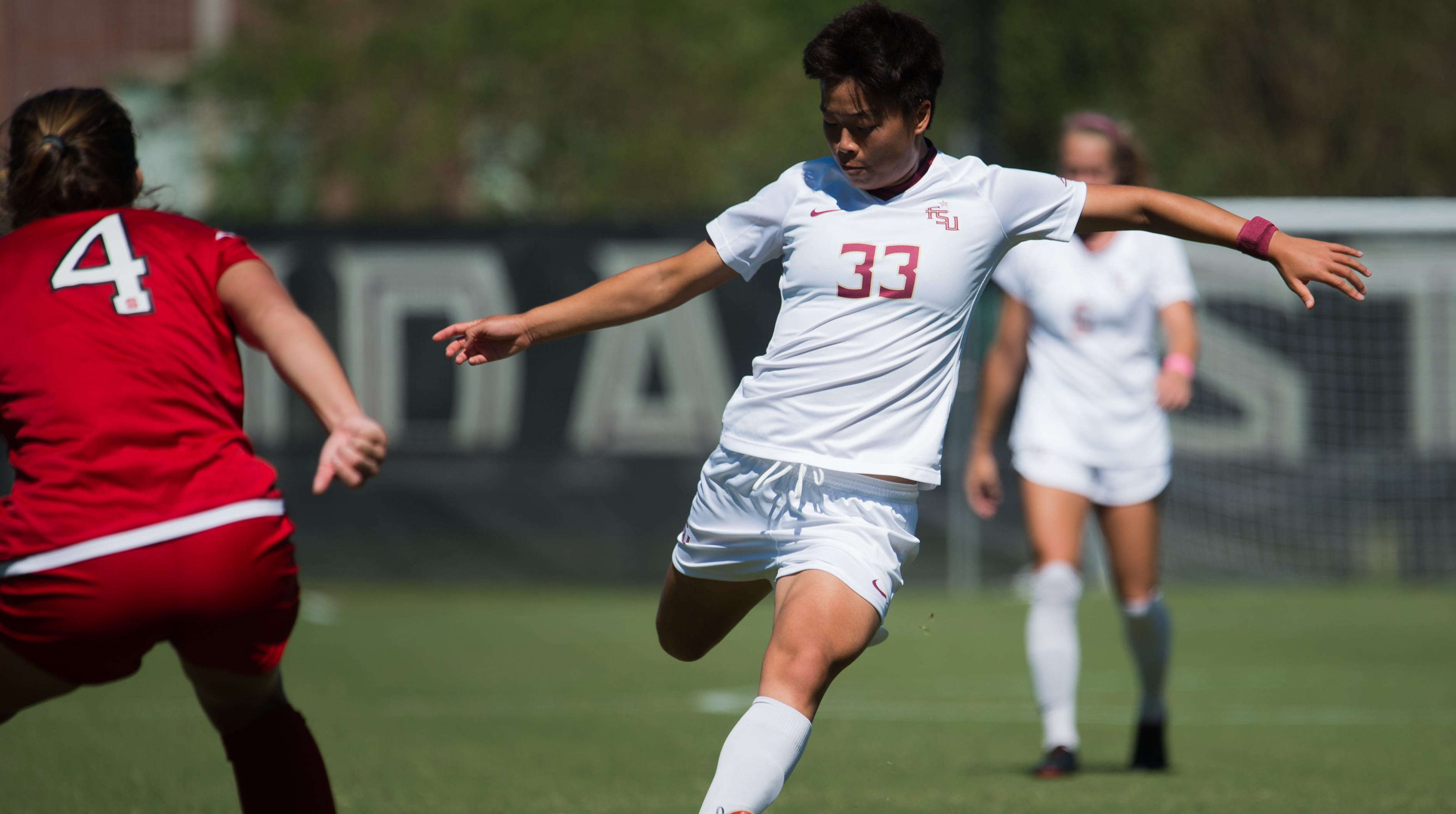 FSU freshman midfielder Yujie Zhao scored her team-high sixth goal of the season during the Seminoles 1-1 draw with NC State on Saturday afternoon.
