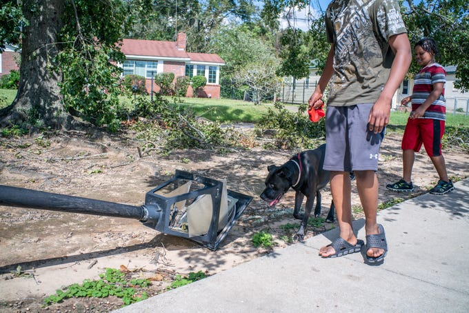 Recovery efforts continued into Thursday as Tallahassee works to restore power into the weekend as residents assessed damage to their homes and neighborhoods