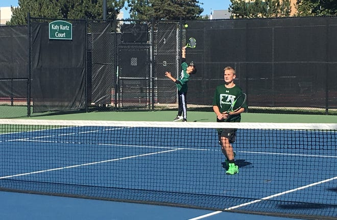 Fossil Ridge's No. 4 doubles team of John Shelby and Brady Elliot won the Class 5A state title on Saturday at the Gates Tennis Center in Denver.