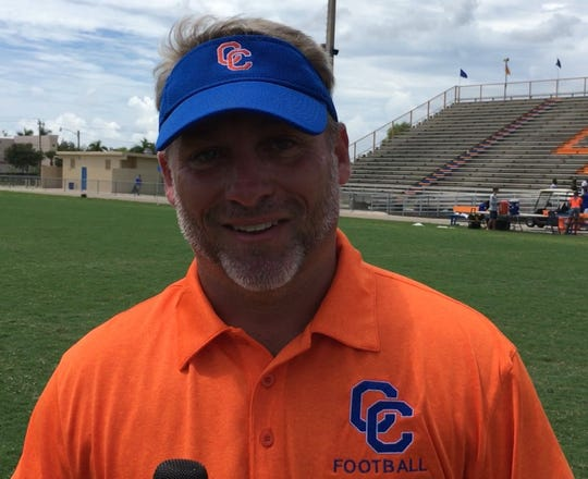 Cape Coral High School football coach Dale More