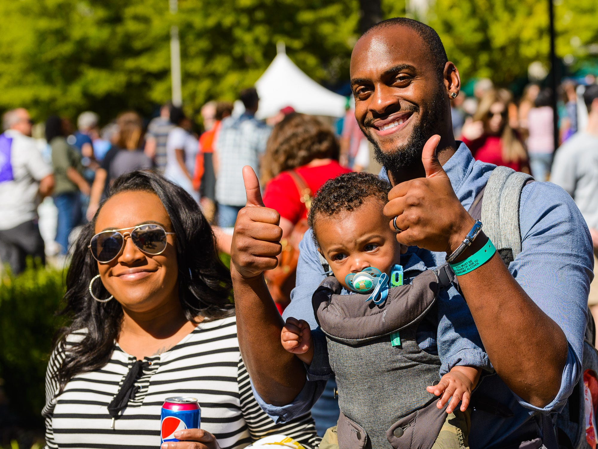 People from all over the upstate crowd Greenville's Main Street to enjoy Fall for Greenville on Saturday, October 12, 2018.