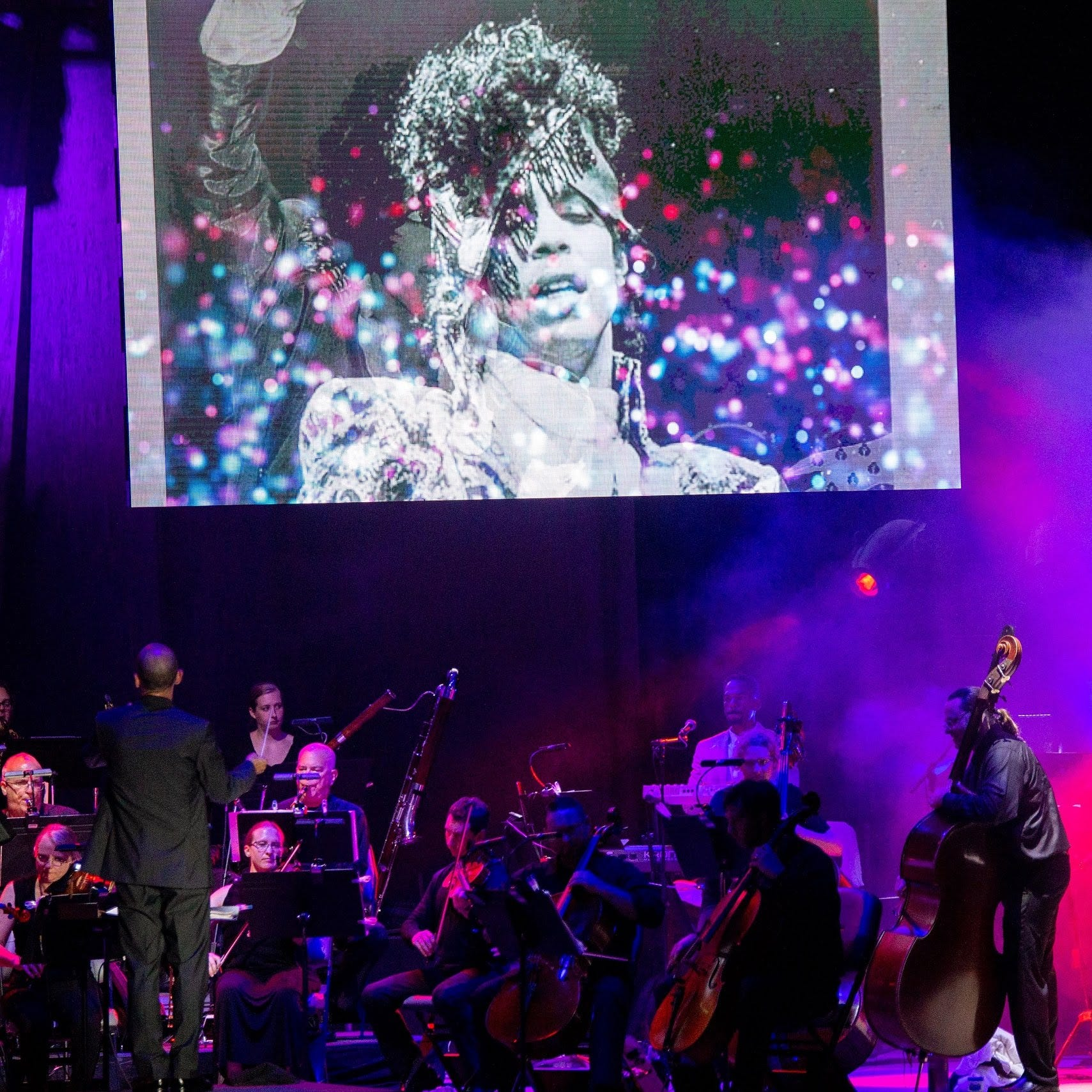 Symphonic night of Prince music hits peak with video excerpt from the man himself