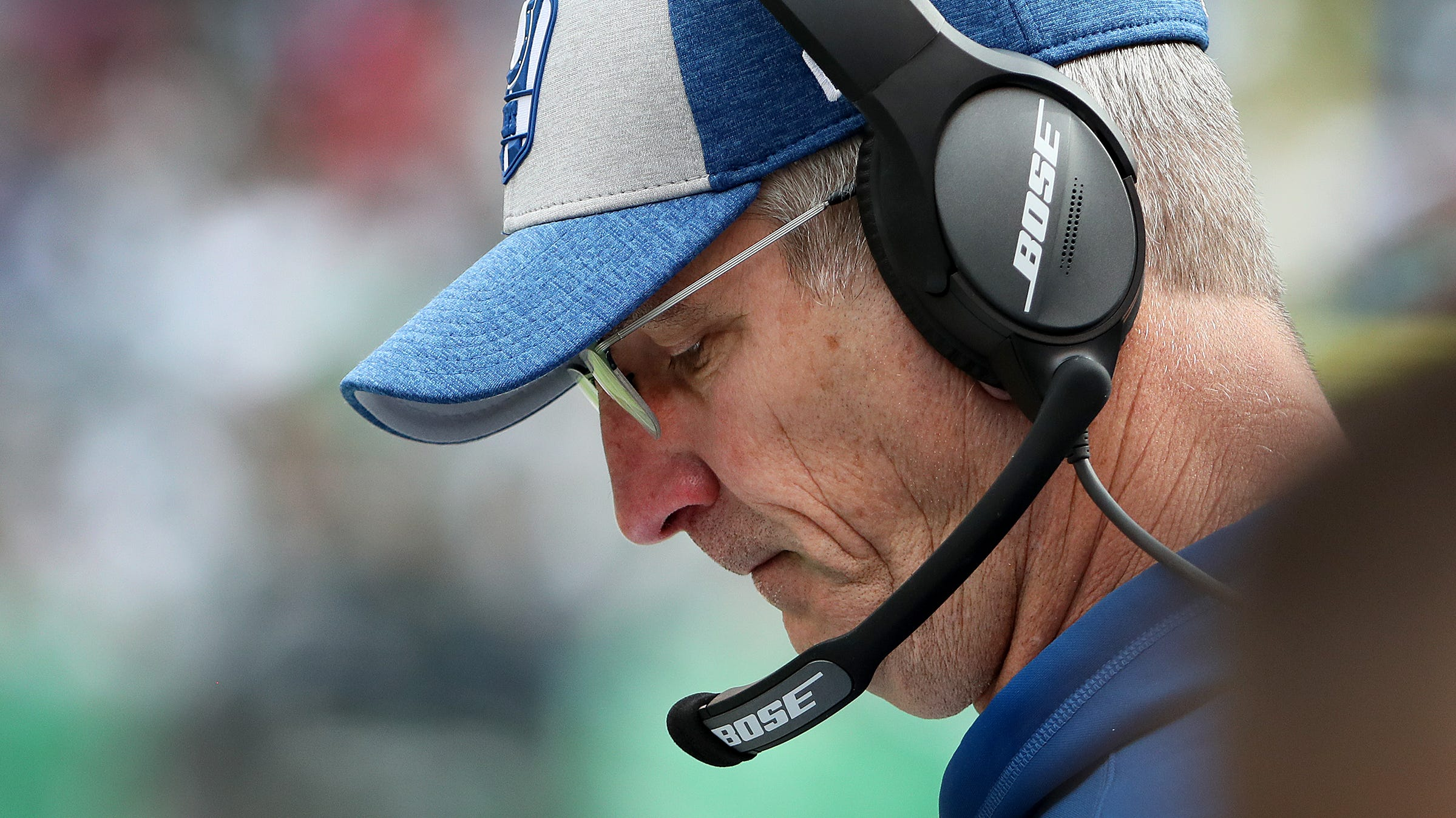 Indianapolis Colts head coach Frank Reich looks...