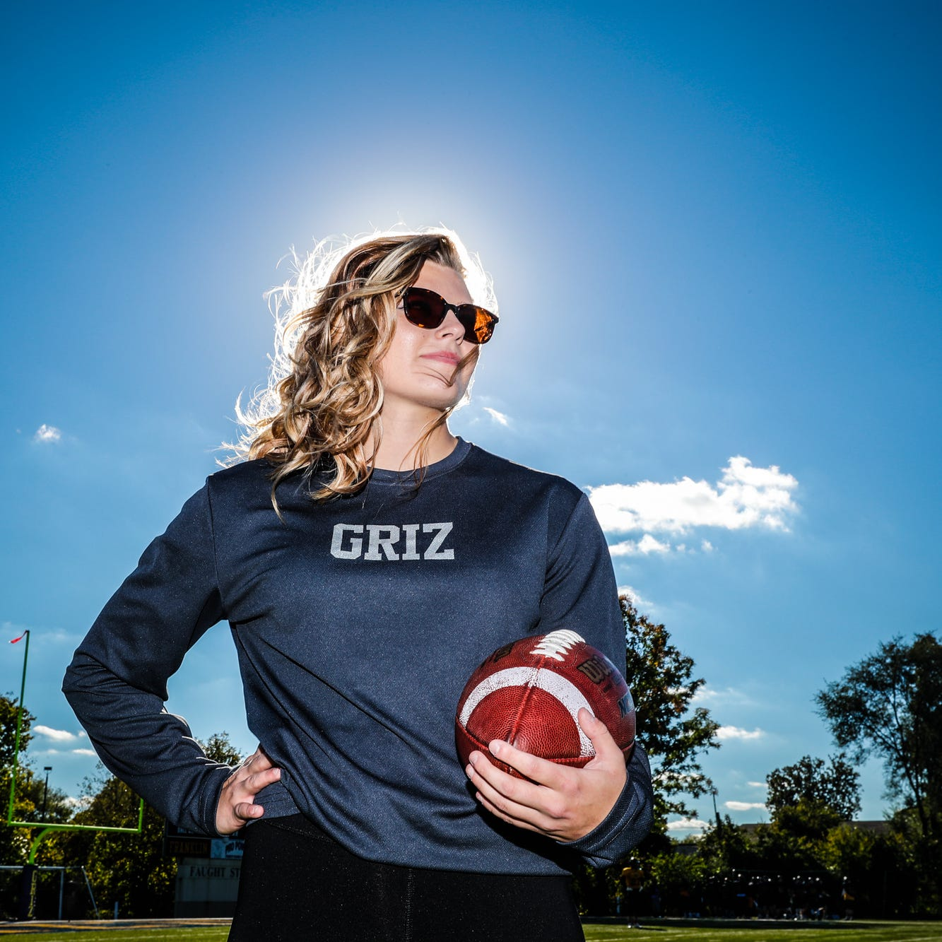 Cheerleader turned defensive back hopes to play football at Franklin College