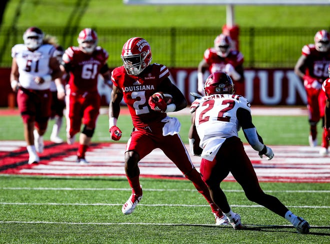 UL wide receiver Ja'Marcus Bradley contributed a 50-yard touchdown catch to the Cajuns' record-breaking 66-38 homecoming win over New Mexico State on Saturday at Cajun Field.