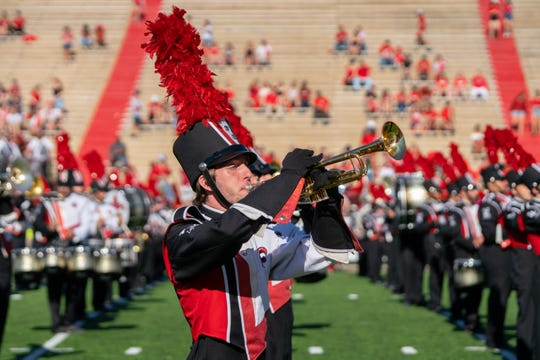 UL's Pride of Acadiana performs before the game at Homecoming against New Mexico State in October.
