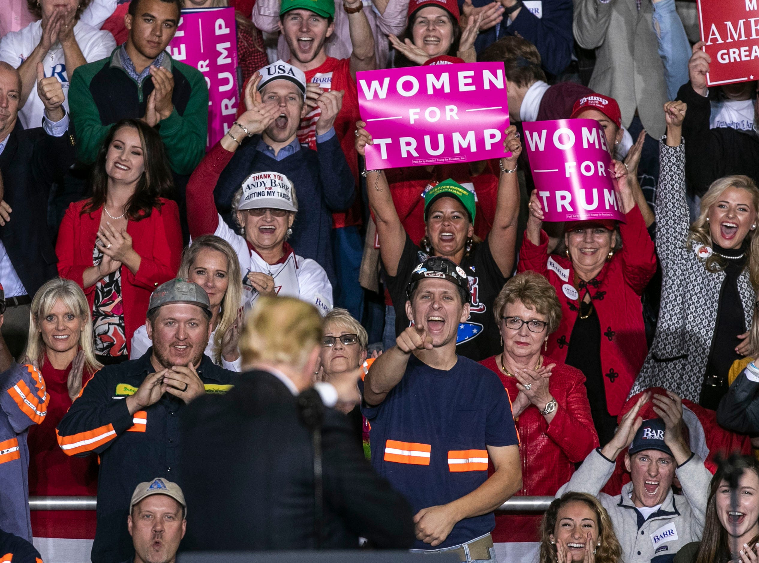 "The audience behind President Donald Trump roared with approval as he told them his admimistration has ""ended the war on clean, beautiful coal "" during a speech on the Eastern Kentucky University campus Saturday night."