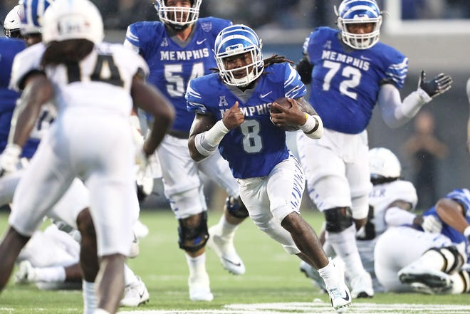 Memphis running back Darrell Henderson leads the nation in total rushing yards.