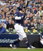 Travis Shaw was suffered through a nagging wrist injury last year but recovered to finished with 32 home runs, 86 RBI and .825 OBP.