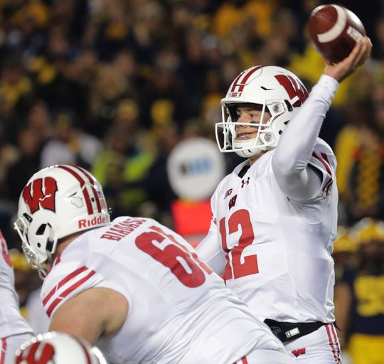 Quarterback Alex Hornibrook and the Badgers offense struggled Saturday against Michigan.