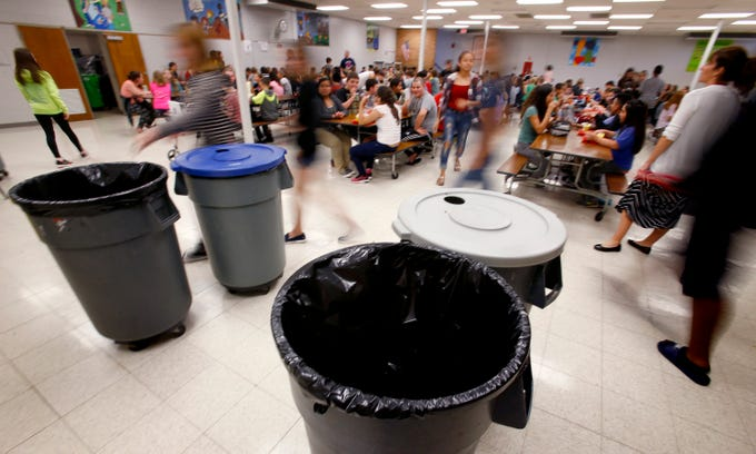 A larger cafeteria is proposed at Les Paul Middle School as part of the $60 million Waukesha School District referendum on the Nov. 6 ballot. The current cafeteria is too small, requires three different serving times and the room is below grade with narrow hallways and stairwells to exit.