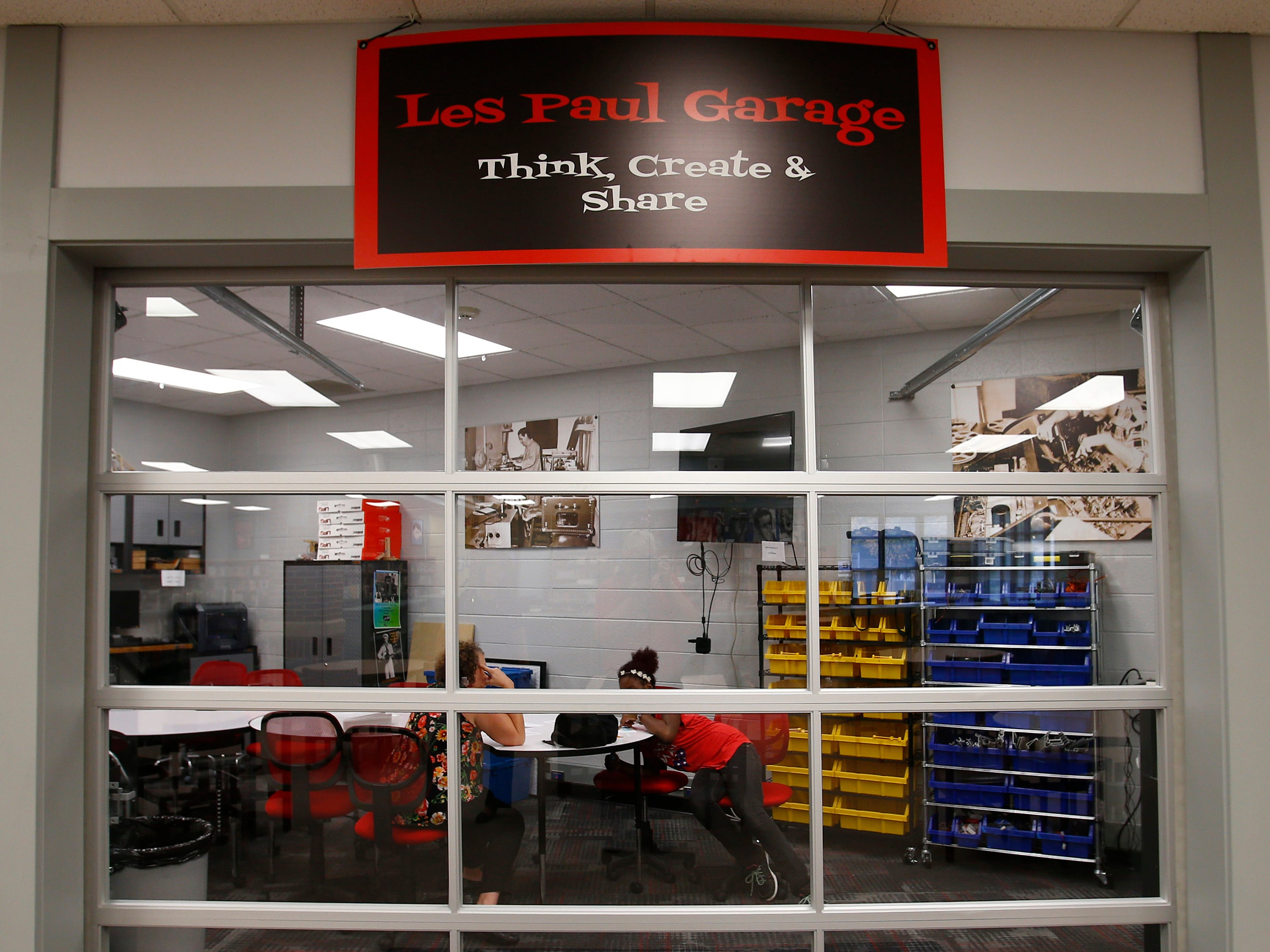 The Les Paul Middle School media center would be redesigned to be more of a collaborative space, like its existing Les Paul Garage, than a traditional library as part of the referendum.