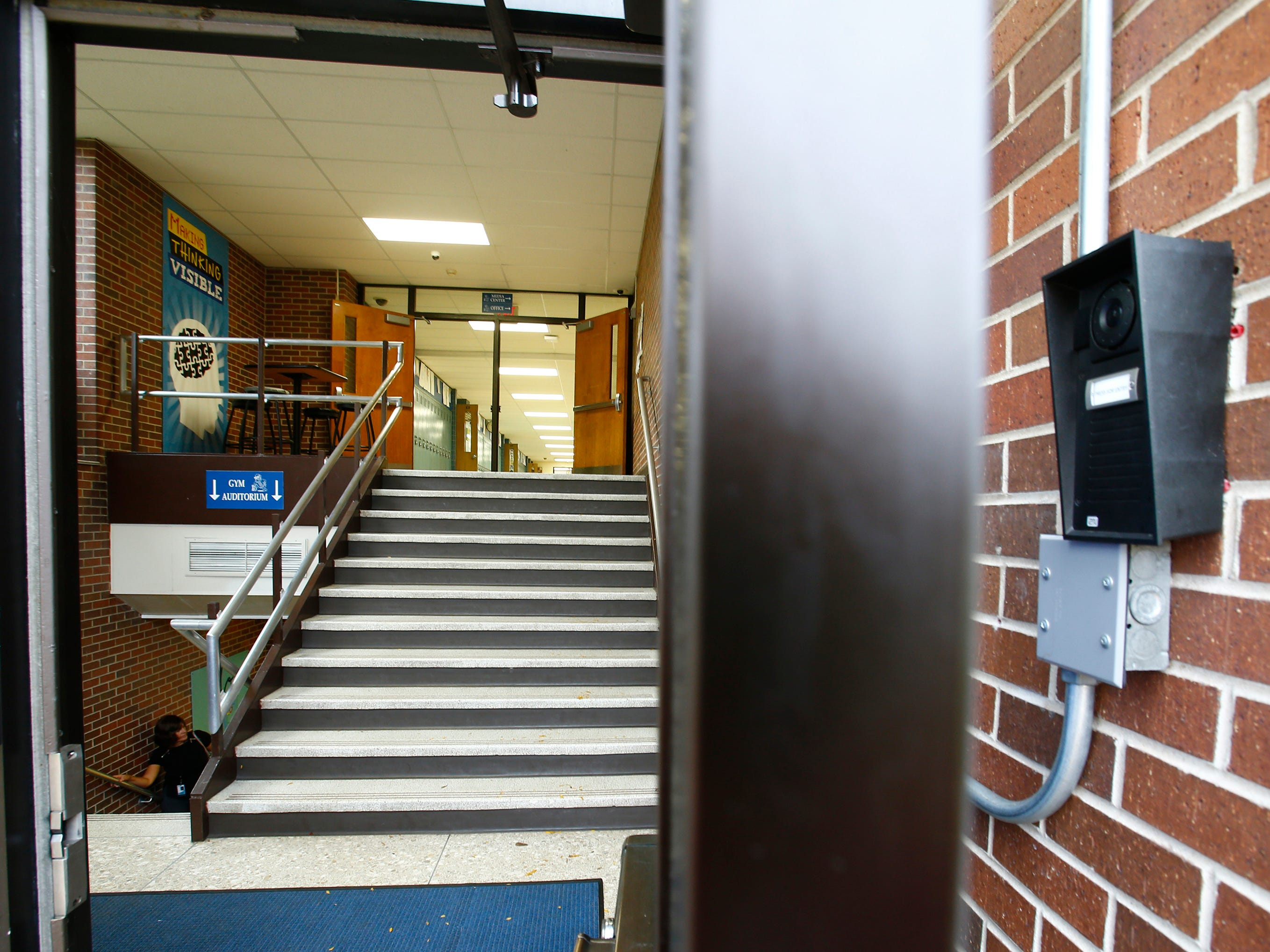 The main entrance and offices for Butler Middle School would be moved to the south side of the school as part of the  referendum.