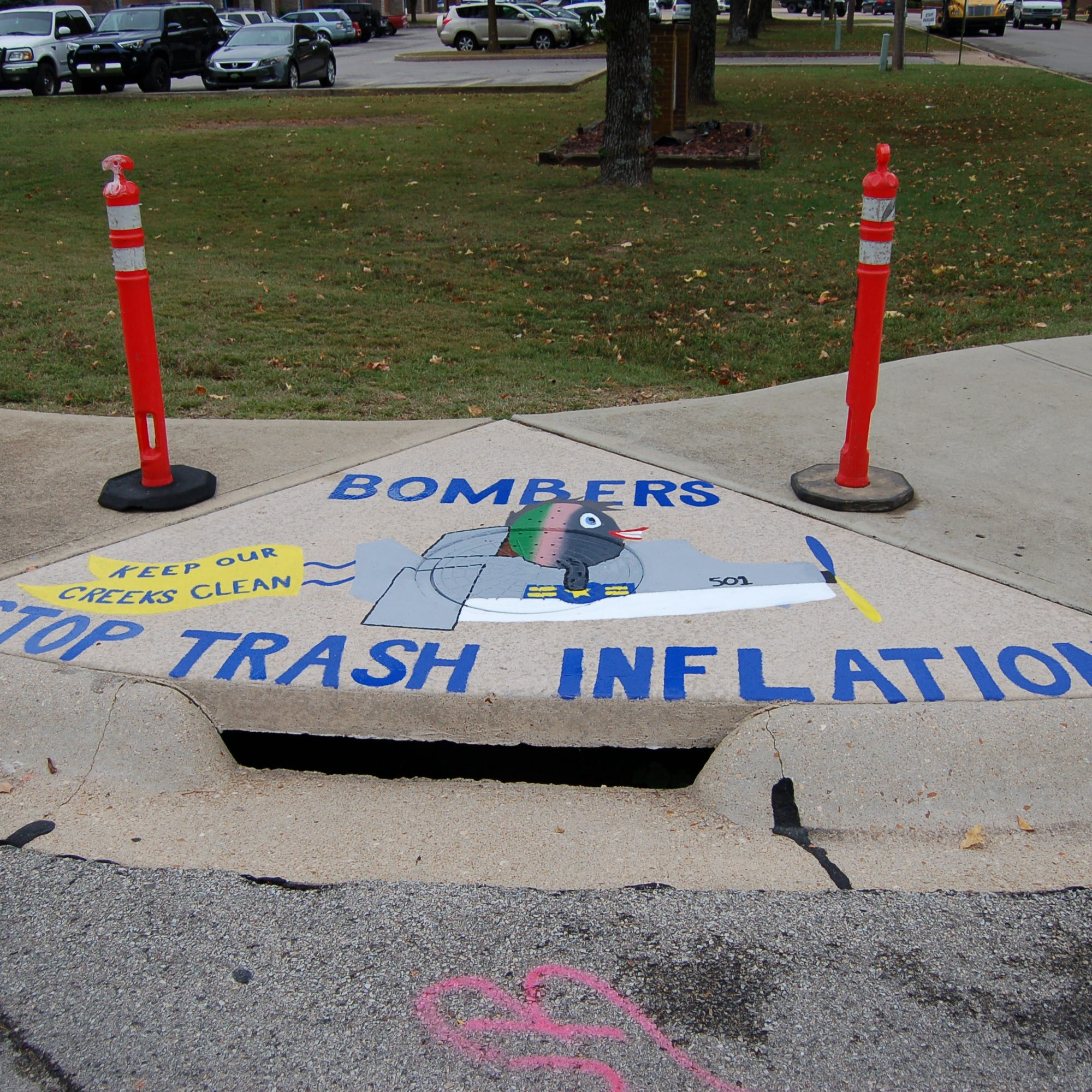 Painted storm drains popping up near MHHS