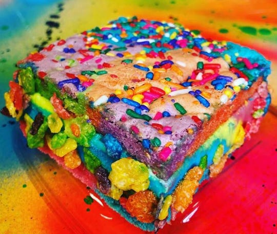 The Chubby Unicorn is one of the unique flavors of ice cream sandwiches offered by Underground Cookie Club.