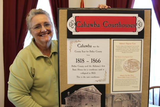 Sketches of Alabama courthouses and drawings of noted military and political leaders are on display at Alabama's first capital at Cahawba.