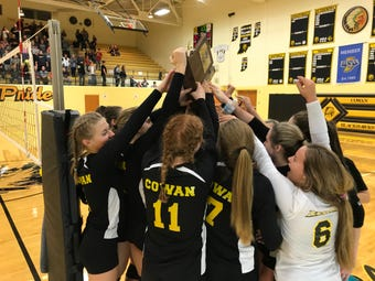 Highlights of Cowan and Wes-Del in the sectional championship.