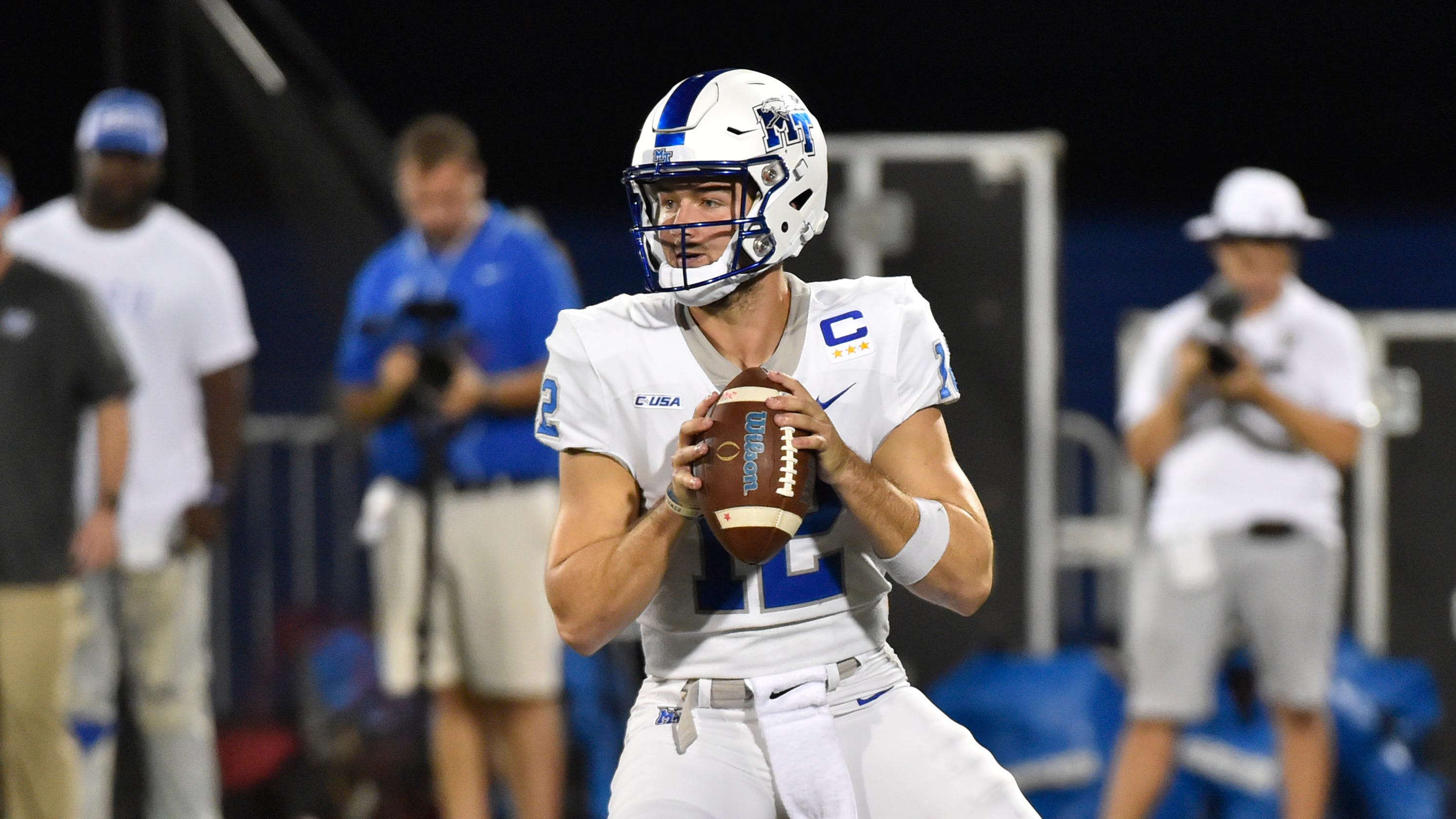 save off 69e81 21e3d MTSU football: Brent Stockstill gets hurt against FIU